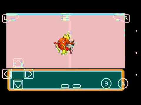 Magikarp evoluído para Gyarados. Pokémon Fire Red