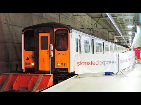 Trains at London Stansted Airport Station 2017