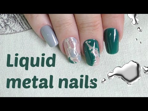 Liquid metal nails design