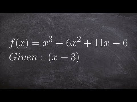 How to the Remaining Factors When Given One Factor of a Polynomial