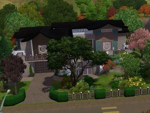 The sims 3 - House building - Asian Fusion