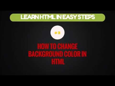 How to Change the Background Color in HTML | Change Background Color | Learn HTML