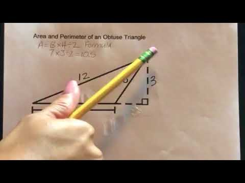 How to find the Area and Perimeter of an Obtuse Triangle