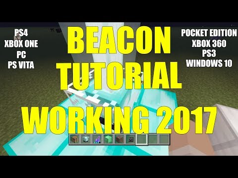 Minecraft: HOW TO WORK BEACONS 2017 (PS4, PS3, Xbox One, Xbox 360, PS Vita, PC)