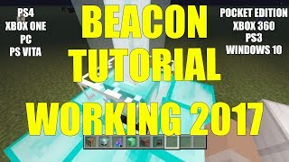 Minecraft How To Make Beacons Work Ps4 Ps3 Xbox One Xbox 360 Ps Vita