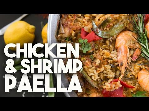 🥘   Chicken & Shrimp PAELLA | With SAFFRON & BOMBA rice | Kravings