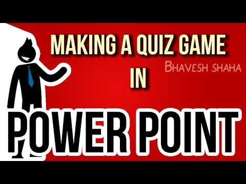 How to make a PPT interactive simple quiz game show in MS Power Point + DOWNLOAD FREE TEMPLATE
