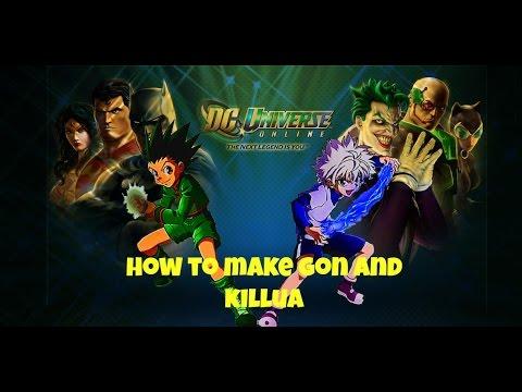 Dcuo ps4 How i make Gon and Killua From Hunter x Hunter