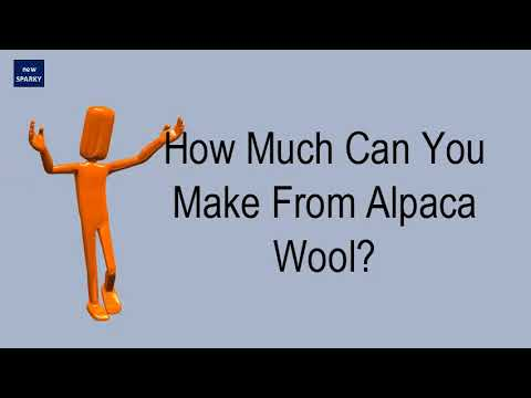 How Much Can You Make From Alpaca Wool?