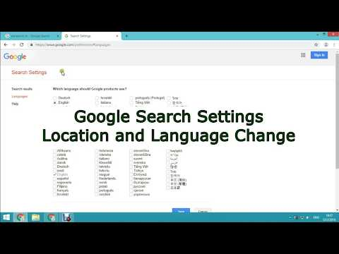 Google Search Settings Location and Language Change