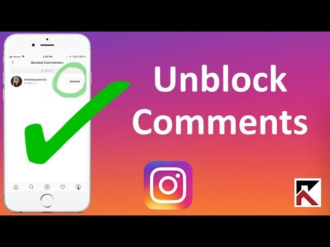 How To Unblock Comments From Specific People Instagram