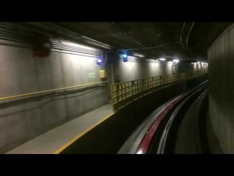 Timelaps: Ride with SEA-TAC Airport Terminal Train (Seattle, WA, USA)