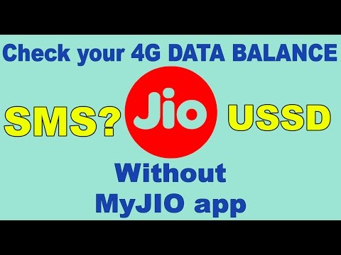 How to check Reliance Jio 4G DATA BALANCE without MyJIO app with SMS and USSD?