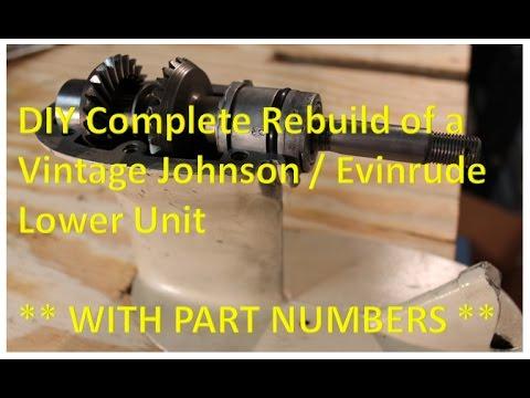 Rebuild a Vintage Johnson Evinrude OMC Lower Unit Gearcase Installing a Seal Kit
