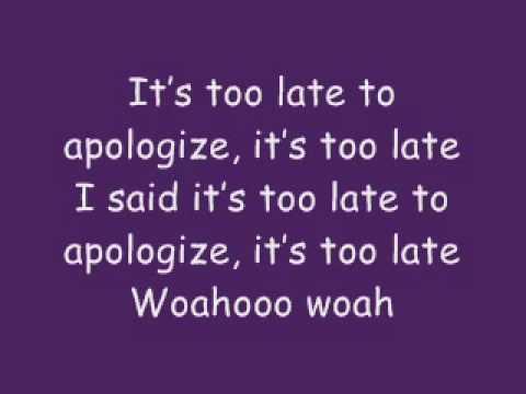 Apologize mit text