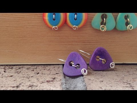 How To Make Cute and Easy Button Earrings - DIY Style Tutorial - Guidecentral