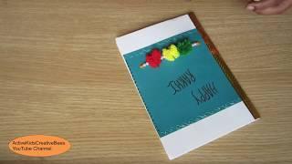 Active kids creative bees videos how to make handmade greeting cards for raksha bandhan diy raki card m4hsunfo
