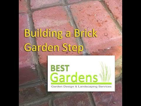 Building A Brick Garden Step