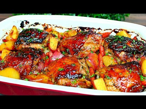 Honey Garlic Butter Chicken and Potatoes Recipe - Easy Delicious Chicken and Potatoes