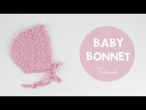 How To Crochet Cute And Easy Baby Bonnet | Croby Patterns
