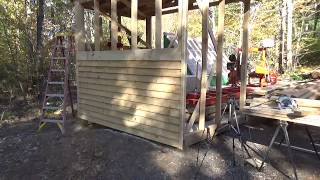 Cutting lap siding out of White Pine on the Woodmizer LT15