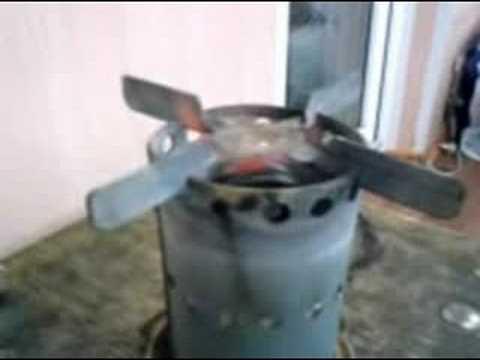 Homemade coil pipe alcohol stove - midi