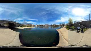 360 Video View of Big Spring Park, Downtown Huntsville, Alabama