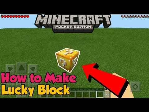 Minecraft PE | How To Make a Working Lucky Block! | Command Block creation