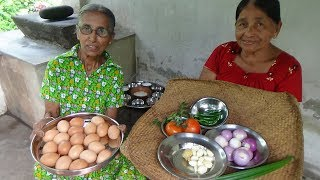 Egg Masala Curry prepared in my Village by Grandma and Mom | Village Food