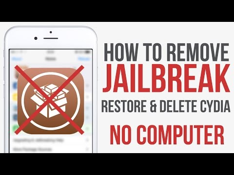 Remove Jailbreak & Delete Cydia No Computer Required!