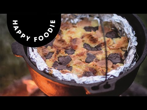 Bread and Butter Pudding Cooked Outdoors! | Genevieve Taylor