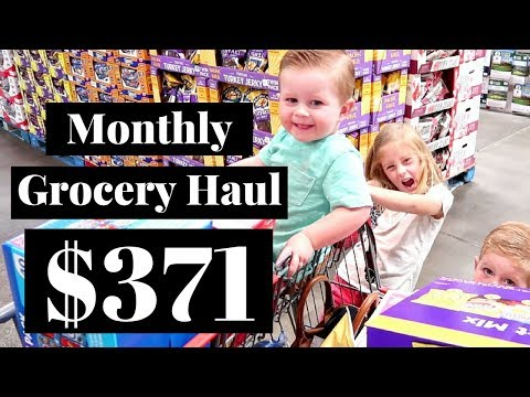 July 2017 HUGE Costco & Walmart Grocery Haul   Over Budget!!!