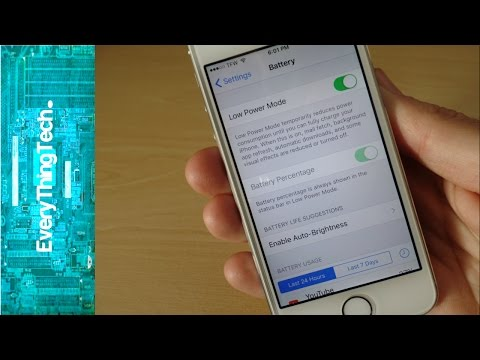 iPhone 5S iOS 9.0.2 Low Power Mode Battery Review!