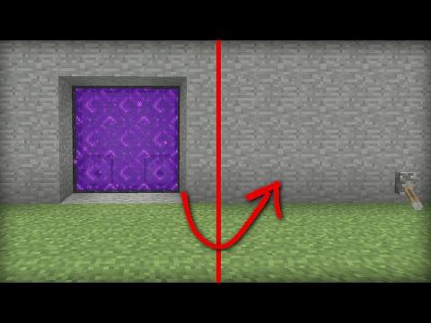 Minecraft PS4 - AUTOMATIC NETHER PORTAL DOOR [ 3X3 ] Tutorial - PE / Xbox / PS3 / Wii U