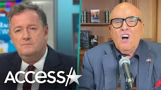 Piers Morgan & Rudy Giuliani's Shouting Match over Trump's Protest Response