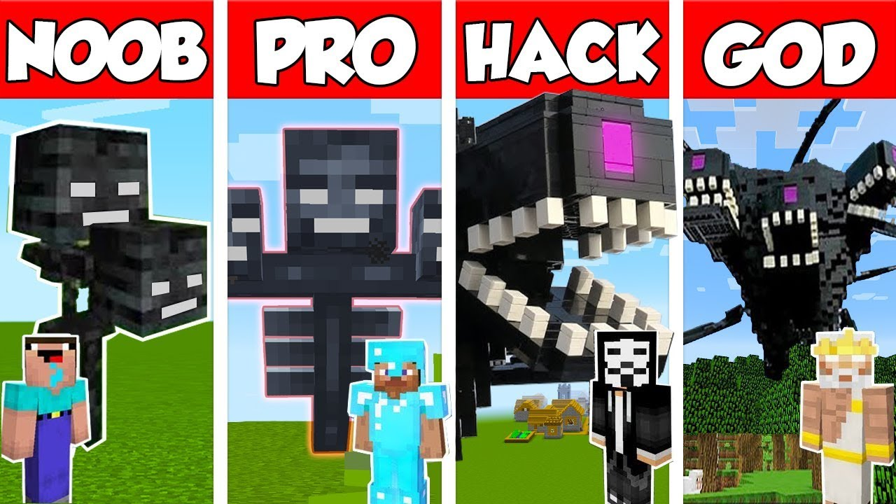 Minecraft NOOB vs PRO vs HACKER vs GOD: WITHER STORM MUTANT CHALLENGE in Minecraft / Animation