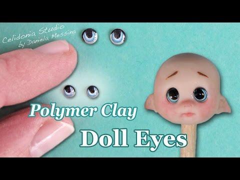 Polymer Clay Doll Eyes Tutorial - Manga Style