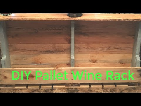 How to Make a Wine Rack with Pallets