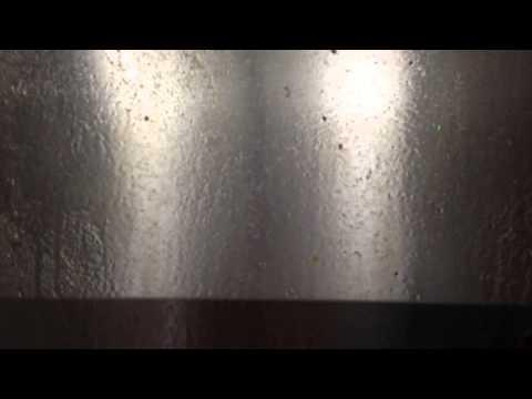 How To Clean  Gas Range Burner Hood oil stain of Aqua nax