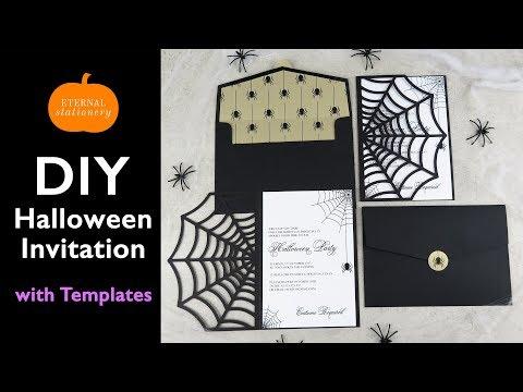 DIY Halloween Invitation Card | Cobweb Invitations using the Cricut