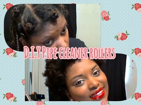 D.I.Y|  Pipe Cleaner Curlers for Natural Hair