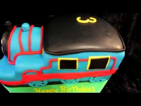 How to Make a 3D Thomas the Train Cake