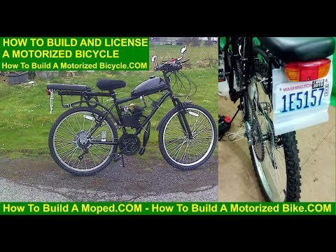 How To License and Build a Motorized Bicycle License Plate Vin Number