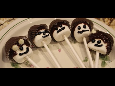 HALLOWEEN/ TREATS / CHOCOLATE MARSHMALLOW POPS /Cheryls Home Cooking