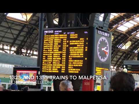 Milan Malpensa Express to Milan Airport Train Cancelled due to strike 17 Dec 17