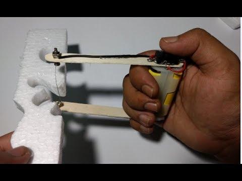 how to make a  foam cutter/styrofoam cutter(hot wire)