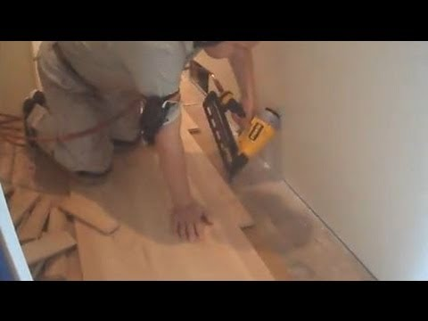 Installing Unfinished Hardwood Flooring: Nail Down Close to a Wall