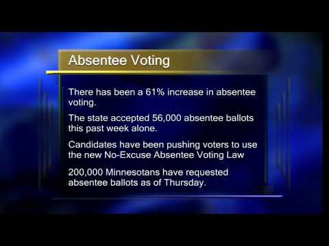 Minnesota Absentee Voting Increase - Lakeland News at Ten - October 31, 2014