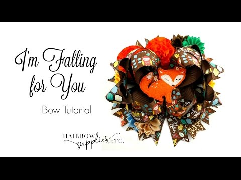 I'm Falling For You - Fall Hair Bow Tutorial - Hairbow Supplies, Etc.