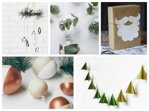 Minimalist Christmas Decor Ideas - Simple Winter Room Decor Ideas - Scandinavian Christmas Style